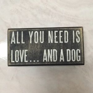 All You Need Is Love Wood Sign NWOT